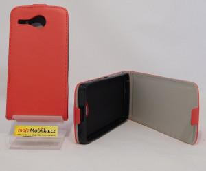 Pouzdro Forcell Slim Flip flexi Acer Z520 Červené