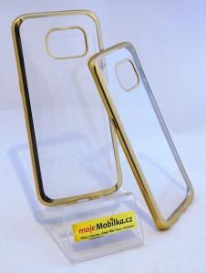 Pouzdro Bumper TPU Samsung Galaxy S7 Edge G935 Zlaté