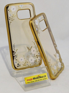 Pouzdro Diamonds TPU Samsung Galaxy S7 G930 Květiny