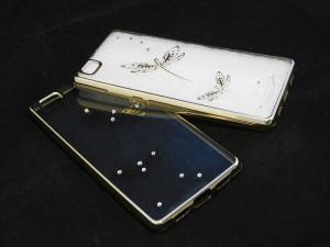 Pouzdro Diamonds TPU Huawei Ascend P8 Lite Motýl