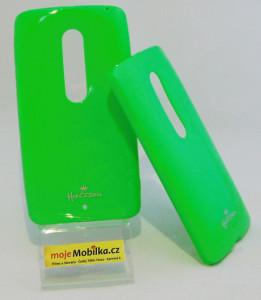 Puzdro Jelly Case pre Motorola X Play XT1562 Zelené