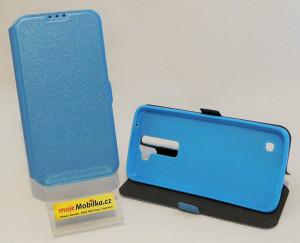 Pouzdro Book Flexi Pocket LG K8 Modré