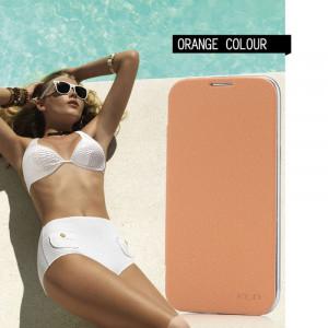 Pouzdro BEI Samsung Galaxy S4 i9505/i9500 Oranžové