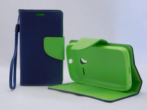 Pouzdro TEL1 Fancy Diary Alcatel One Touch pixi 3 4022D Modré 3,5´´