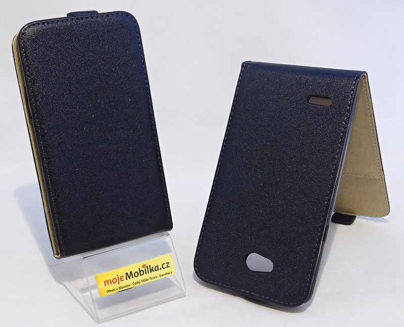 Puzdro Forcell Slim Flip Flexi LG L80 Černé