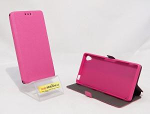 Pouzdro Book Flexi Pocket Sony Xperia Z3 D6603 Růžové