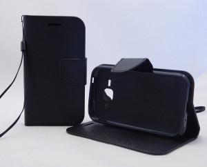 Pouzdro Fancy Case Samsung J100 / Galaxy J1 Černé