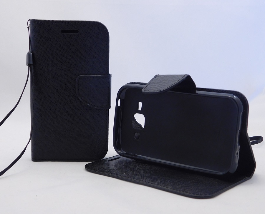 Puzdro TEL1 Fancy Diary Samsung Galaxy J1 J100 Černé
