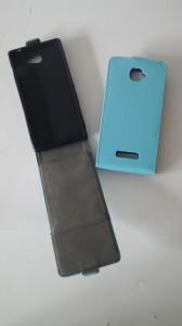 Pouzdro ForCell Slim Flip FLEXI Nokia Lumia 630 635 Světle Modré