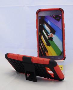Pouzdro Amzer Hybrid Warrior Case Samsung Galaxy J5 J500 Červené