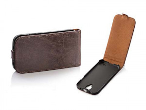Pouzdro Toscana Elegance pro Apple iPhone 5/5S Brown