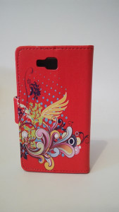 Pouzdro Flower Book Case Red Samsung N9005 Galaxy Note 3