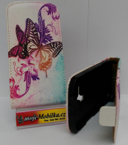 Pouzdro ForCell Slim flip Samsung S7562/S7560 Colors butterfly
