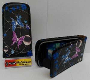 Pouzdro ForCell Slim flip Samsung S7562/S7560 Black butterfly