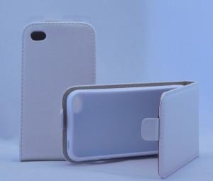 Puzdro ForCell Flip Flexi Iphone 4 Bílé