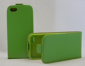 Pouzdro ForCell Slim Flip Flexi iPhone 5 iphone 5s Zelené