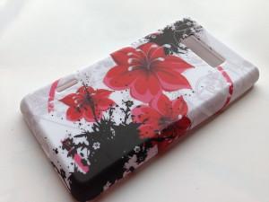 Pouzdro JELLY CASE Nokia Lumia 520 bílé s kytkou