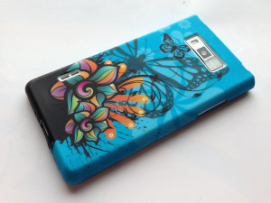 Pouzdro JELLY CASE Sony Xperia Z1 mini/compact D5503 modré s motivem