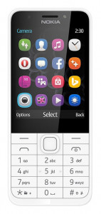 NOKIA 230 DS White/Silver
