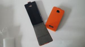 Pouzdro ForCell Slim Flip Flexi Sony Xperia M2 D2303 Oranžové