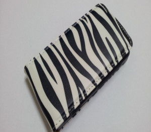 Pouzdro Slim Flip Case 2 Samsung G900 Galaxy S5 Zebra