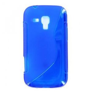 Pouzdro S-Line Case pro Nokia 206 Asha modré silikonové pouzdro