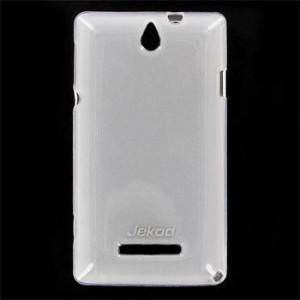 JEKOD TPU Ochranné Pouzdro White pro Sony Xperia E C1605/C1505