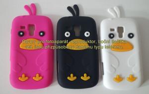 Silikonové pouzdro Bird Case pro Samsung I9300 Galaxy S3 černé