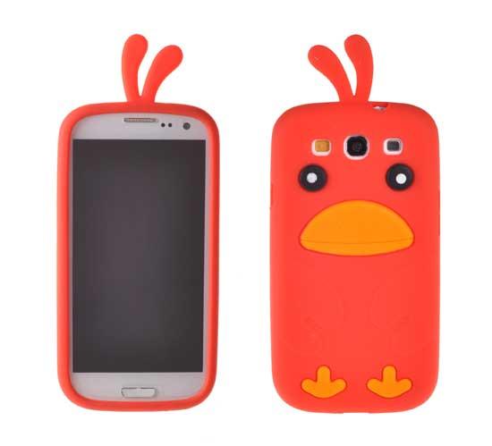 Silikonové pouzdro Bird Case pro LG E460 L5 II červené