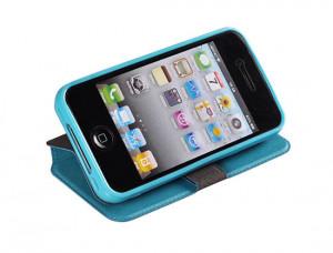 Pouzdro Book Flexi Pocket D2303 Sony Xperia M2 Světle modré