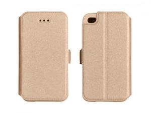 Pouzdro Book Flexi Pocket Huawei P8 Lite Zlaté