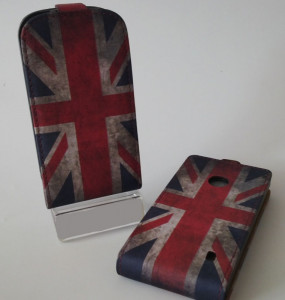 Pouzdro Slim Flip Case 2 Samsung G900 Galaxy S5 British Flag