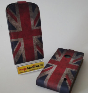 Pouzdro Slim Flip Case 2 iPhone 4S British Flag