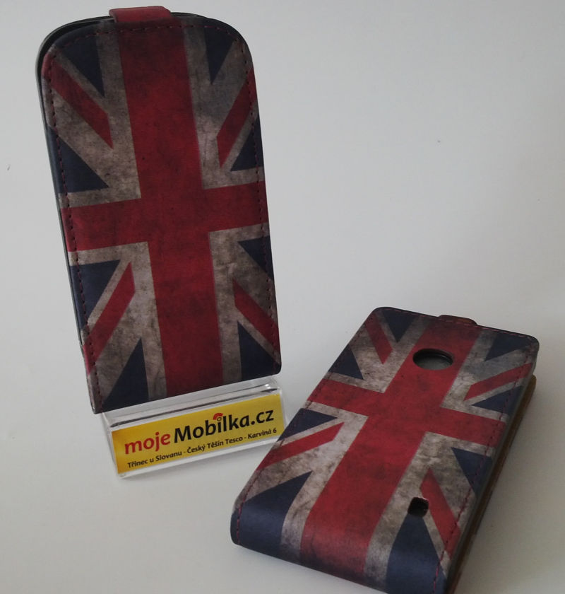 Pouzdro Slim Flip Case 2 Samsung G900 G903 Galaxy S5 British Flag