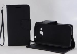 Pouzdro TEL1 Fancy Diary Samsung Galaxy Core Prime G360 VE G361 Černé