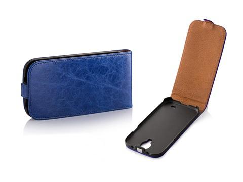 Pouzdro Toscana Elegance pro Samsung i9505 Galaxy S4 Blue