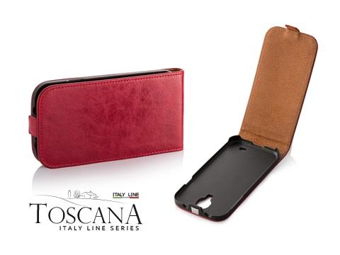 Pouzdro Toscana Elegance pro Samsung i9505 Galaxy S4 Red