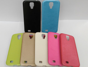 Puzdro Jelly Case Leather pre Samsung Galaxy S4 i9505 Bílé