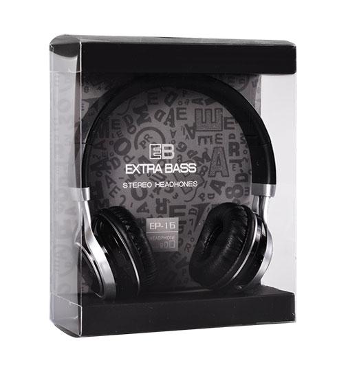 EB EP-16 stereo sluchátka Černé