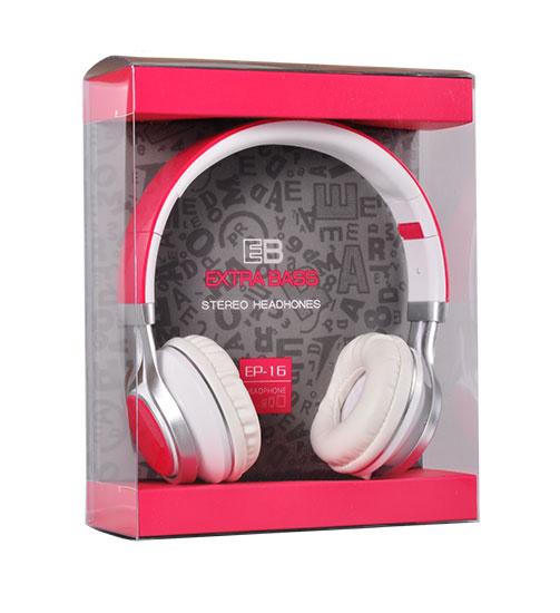 EB EP-16 stereo sluchátka Růžové