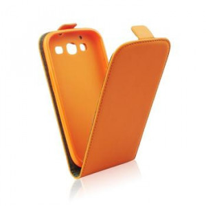 Pouzdro Forcell Slim Flip flexi Samsung i9300/i9301 Galaxy S3 oranžové