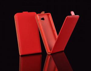 Pouzdro ForCell Slim Flip Flexi SAMSUNG GALAXY S 5/I9600 Červené