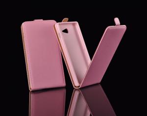 Pouzdro ForCell Slim Flip Flexi Nokia Lumia 630/635 růžové