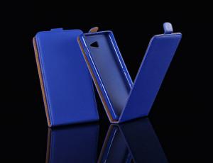 Pouzdro ForCell Slim Flip Flexi Sony Xperia E4 E2105 Tmavě modré