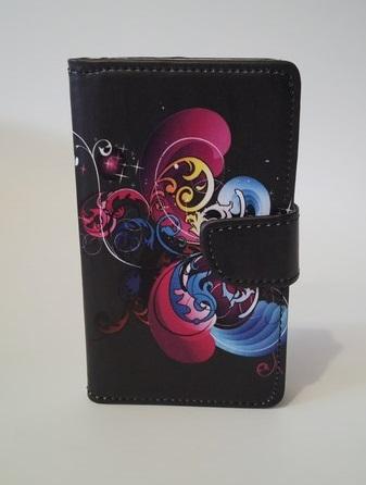 Pouzdro Flower Book Case Black Samsung I9195/i9190 Galaxy S4 mini