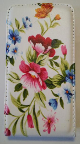 Pouzdro Slim Flip Case 2 Nokia Lumia 520 Flowers