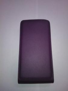 Pouzdro ForCell Slim flip Nokia 301 Asha fialové