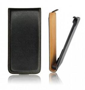 Pouzdro ForCell Slim Flip Nokia 208 Asha černé