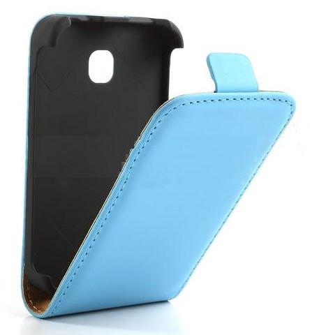 Pouzdro ForCell Slim Flip Case Samsung G900 G903 Galaxy S5 světle modré