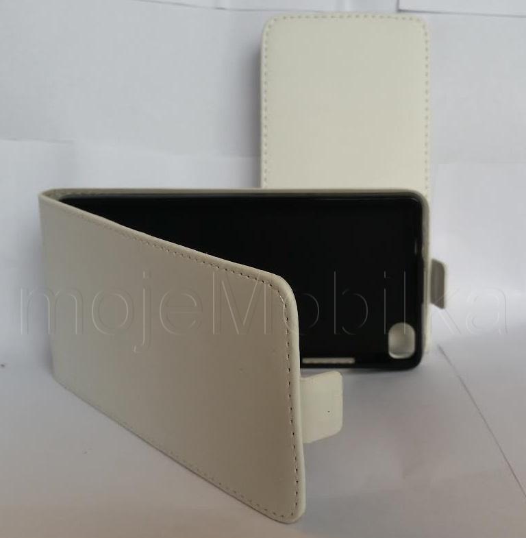 Pouzdro ForCell Slim flip flexi Samsung G7105 Galaxy Grand 2 Bílé